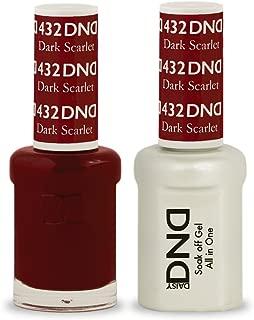 DND Soak Off Gel Polish Dual Matching Color Set 432, Dark Scarlet