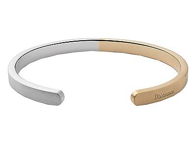 Miansai Singular Two-Tone Cuff (Matte Silver/Matte Gold) Bracelet