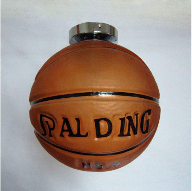 Basketball-fuballleuchter, Personalisierter Kreativer Kunstglas-basketball-fuballleuchter, Geeignet Für Wohnzimmer, Kinderzimmer, Schlafzimmer, Arbeitszimmer, Gstezimmer,SuckCeiling,25CMbasketball