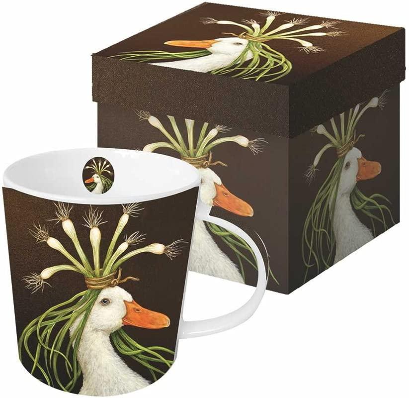 Paperproducts Design Gift Boxed Porcelain Mug 13 5 Oz Vicki Sawyer Miranda Goose Multicolor