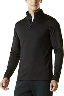 Men's Winterwear Sporty Slim Fit 1/4 Zip Fleece Lining Sweatshirt