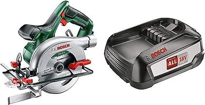 Bosch PKS 18 LI - Sierra circular + Bosch Batería de Litio de 18 V / 2,5 Ah [Power for all]