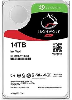 "Seagate 内置硬盘 3.5"" 14TB NAS 视频编辑 IronWolf (高耐久/SATA / 7200rpm) ST14000VN0008"