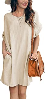 Agqt Women Casual Tunic Dress