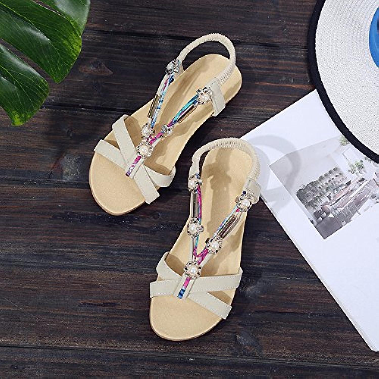 Sandals Ladies' shoes Pearl Summer Bohemia Women's shoes Beach Sandals