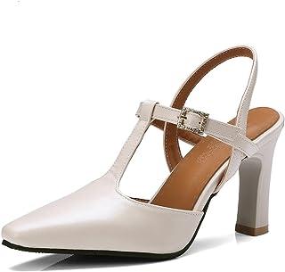 d3f3c7a5fe542a OALEEN Escarpins Salomé Femme Talon Haut Bride Chaussures Sandales Eté Mary  Janes Soirée