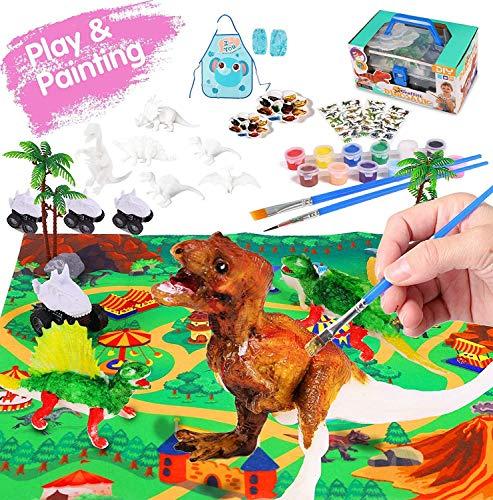 Juguetes de Dinosaurios, Felly Dinosaurio Pintar Juegos para Niños, 3D DIY Dinosaurio...