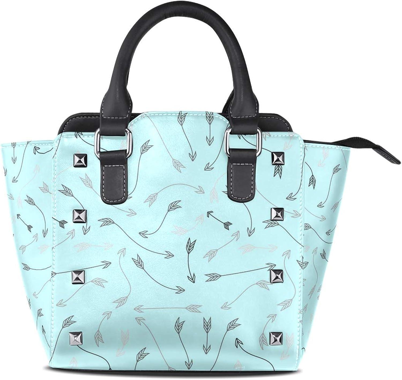 My Little Nest Women's Top Handle Satchel Handbag Bohemia Arrows Ladies PU Leather Shoulder Bag Crossbody Bag