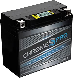 Chrome Pro Battery YTX20L-BS iGel High Performance Battery - Rechargeable