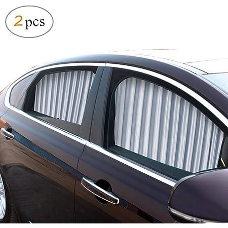 Zatooto Sonnenschutz Fürs Auto Vorhang Sonnenschutz Magnetisch Für Uv Schutz Hitzeschutz Silber Auto