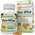 Dr. Danielle's Bee Wise Bee Pollen - Royal Jelly, Propolis, Beepollen in 4 Daily Capsules, Bee Well 120 Veggie caps
