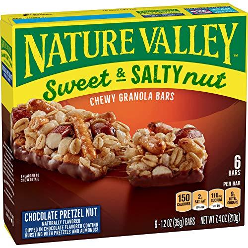 Nature Valley Sweet & Salty Chocolate Pretzel Nut Granola Bars – 6ct