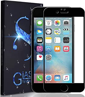 Tempered Glass Screen Protector -9D Curved Edge Full Coverage Screen Protector Glass Compatible iPhone 7 iPhone 8 (Black)