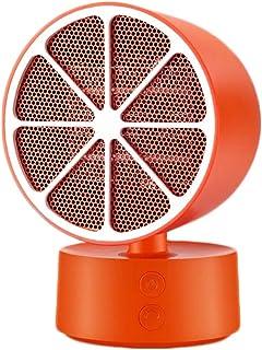 LTLJX Calefactor Cerámico de Aire Eléctrico, Termoventiladores 2s Rápido Calentamiento Calor y Ventilador de Aire Frío para Pequeño Hogar y Oficina,Naranja
