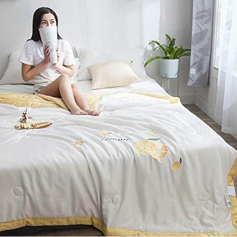 BJYG Couleur Unie été Cool est la climatisation en été (Couleur  D, Taille  150  200CM)