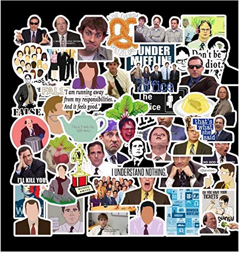 American Tv Series The Office Office Stickers Trolley Travel Suitcase Waterproof Stickers 50 Sheets