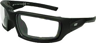 Safety Glasses ANSI Z87.2 with Foam Back Matte Black Optical Quality Frame