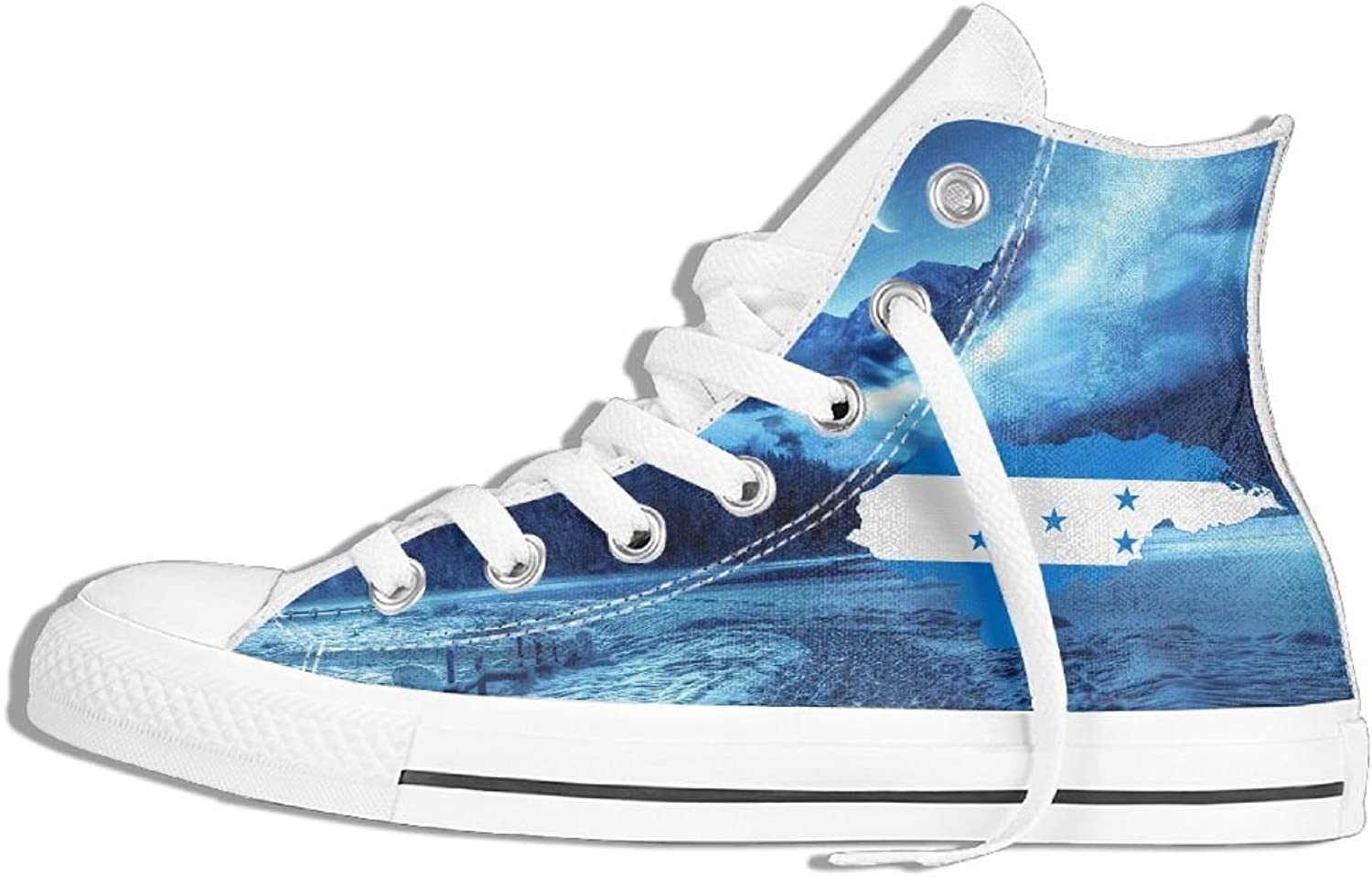 Honduras Flag High Top Classic Casual Canvas Fashion shoes Sneakers For Women & Men