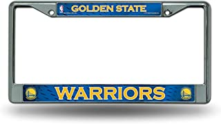 Golden State Warriors LBL Chrome Metal License Plate Tag Frame Cover NBA Basketball