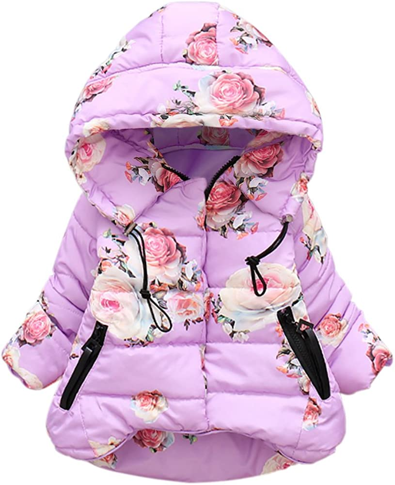 Mesa Mall Baywell Toddle 70% OFF Outlet Winter Coat Fashionable Rose Flower Girl's