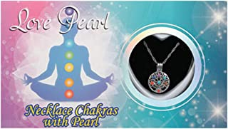 Chakra Necklace Love Pearl Gifts Wish Pearl Necklace with Genuine Pearl Yoga Love Gifts Pack of One