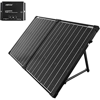 ACOPOWER 100W Portable Solar Panel Kit, Waterproof 20A Charge Controller for Both 12V Battery and Generator …