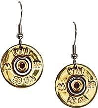 Spent Rounds Designs Goldtone 20 Gauge Winchester Single Dangle Earring