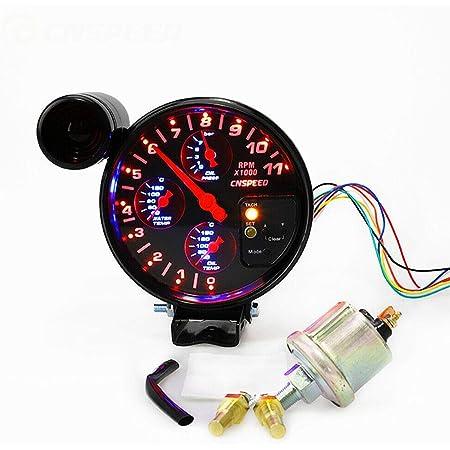Details about  /1PC RPM Shift Light Red LED 1000-11000 RPM Tachometer Tacho Gauge Adjustable