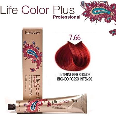 Farmavita Life Color Plus Tinte Capilar 7066 Rubio Rojo Intenso - 100 ml