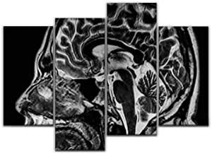 Wall Art Painting MRI Image Brain Human Head and Brain Stock Pictures, Royalty Free Pictures Canvas Prints Poster Oil Pain...