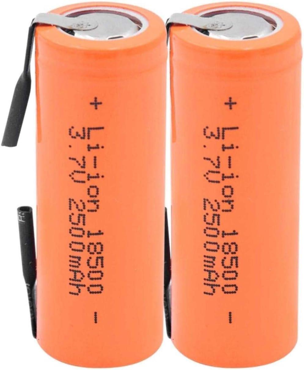 Rechargeable security Battery Philadelphia Mall 18500 LithiumIon Li 3.7V 2500Mah