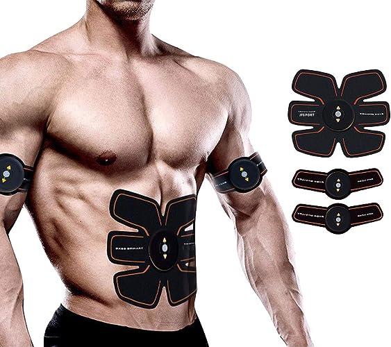 RSTJBS Stimulateur Musculaire Abdominale EMS, ABS Formateur Muscle Toning Ceintures Accueil entraînement Fitness Dispositif pour Hommes & Femmes