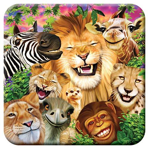 3D LiveLife Kork Matte - Safari lächelt von Deluxebase. Linsenförmige-3D-Kork Wildes Tier Untersetzer. rutschfeste Getränkematte mit Originalkunstwerk lizenziert vom bekannt Künstler Michael Searle