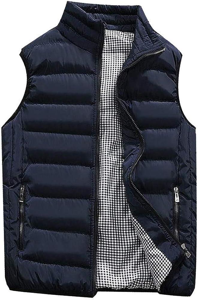 SoeHir Men Autumn New sales Winter Coat Pure Color Warm Al sold out. Cotton Thick Vest