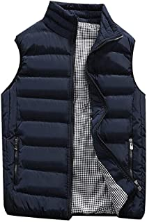 Padded Cotton Vest Mens Winter Hooded Coat Sleeveless Jacket Thick Warm