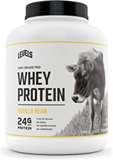 Levels 100% Grass Fed Whey Protein, No GMOs, Vanilla Bean, 5LB