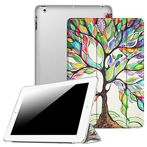 Fintie Hülle für iPad 4, iPad 3 & iPad 2 - Ultradünne Superleicht Schutzhülle mit transparenter Rückseite Abdeckung Cover mit Auto Schlaf/Wach Funktion, Liebesbaum
