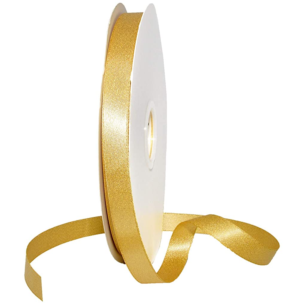 Morex Ribbon 8866 Glitter Pearl Ribbon, Chamois