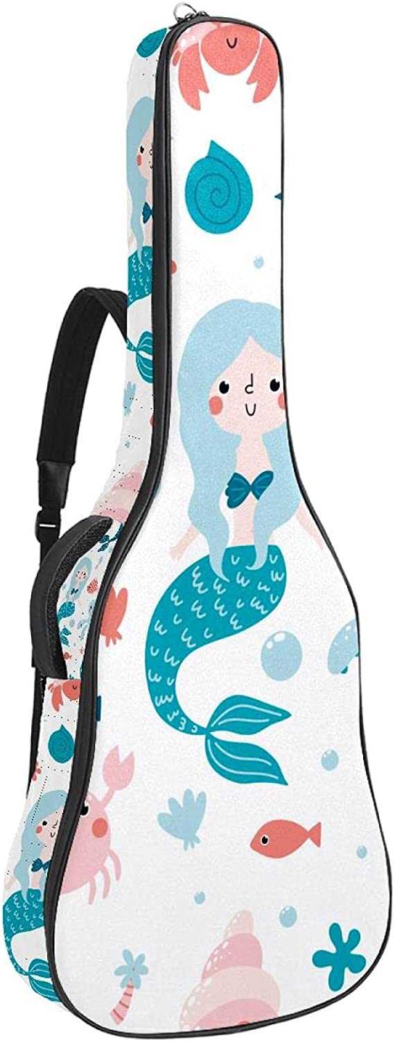 Mermaid Octopus Seahorse Turtle Soft Max 42% OFF Bass Bag Case B with Limited time trial price Guitar