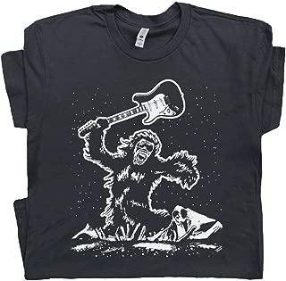 Electric Guitar Smash T Shirt Bigfoot Guitar Tee The Guitarist 80s Vintage Rock Band Clash Bass Player