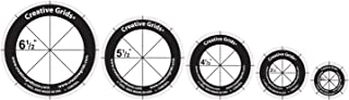 Creative Grids Non-Slip Rotary Cutting Circles - Set of Five Quilting Ruler Templates CGRCRCL