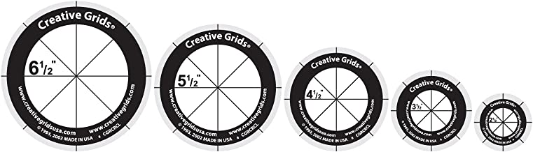 Creative Grids Quilt Ruler Circles (5 Discs with Grips)