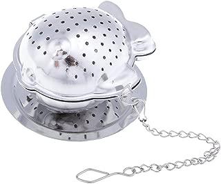 Flameer 茶こし チェーン付き ストレーナー メッシュ ステンレススチール 魚の形 可愛い 全2色 - 銀
