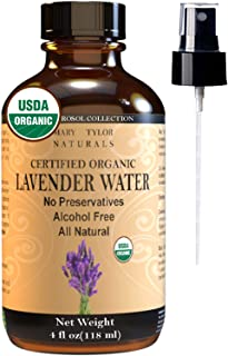 Mary Tylor Naturals Organic Lavender Water Toner (4 Oz), Usda Certified Hydrosol, Pure And Natural Skin & Facial Toner Spray By