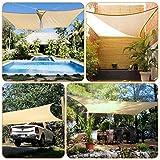 Kupton Toldo de Vela Rectangular para el Sol, 95% de Permeabilidad al Agua y al Aire, Patios al Aire Libre, Patios Traseros, Piscinas de Jardín, Tamaño 6.56' x 10' (2 * 3m)