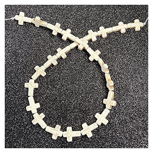 DYKJK Cuentas espaciadoras de piedras naturales con forma de estrella de mar, para mujer, hombre, para hacer joyas, collares, pulseras y pulseras de bricolaje (color: D 12 x 16 mm, 24 unidades)