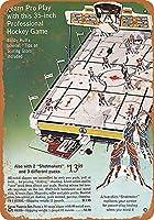 テーブルトップホッケーゲーム-ティンサインヴィンテージノベルティ面白い鉄の絵の金属板