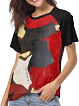 AngelaHenderson Womans Samurai Champloo Short Sleeve Raglan Baseball Tshirts