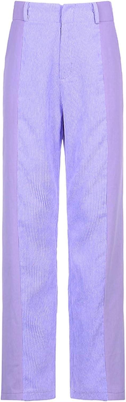 Blotona Women Corduroy Loose Straight Leg Wide Pants Los Angeles Special Campaign Mall High Waist