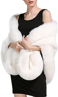 BEAUTELICATE Pelliccia Stola Scialle Donna Coprispalle Sciarpa Elegante per Matrimonio Invernale Cerimonia Sposa Damigella